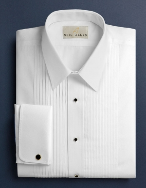 Neil Allyn 100% cotton tuxedo shirt