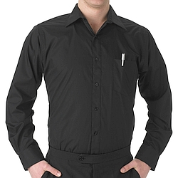 Mens' black dress shirt