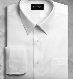 Women's white dress shirt