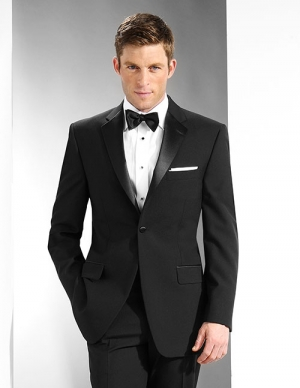 Black notch tuxedo coat