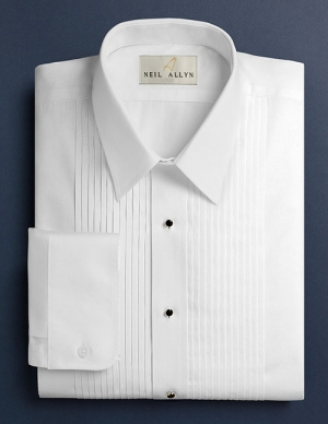men's regular collar tuxedo shirt