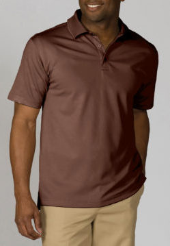 men's espresso polo shirt