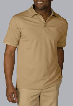men's tan polo shirt