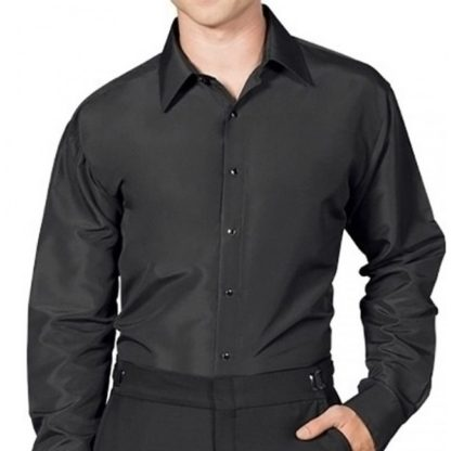 mens black microfiber dress shirt